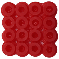 Bead color: red No. 19
