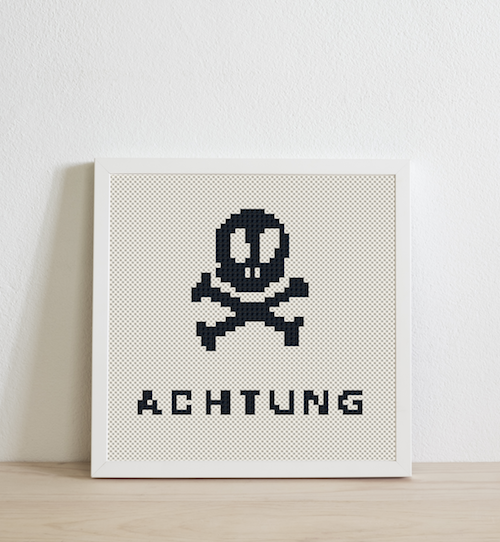 Achtung (white background)