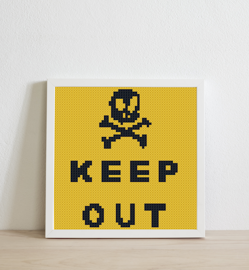 Keep out (yellow background)