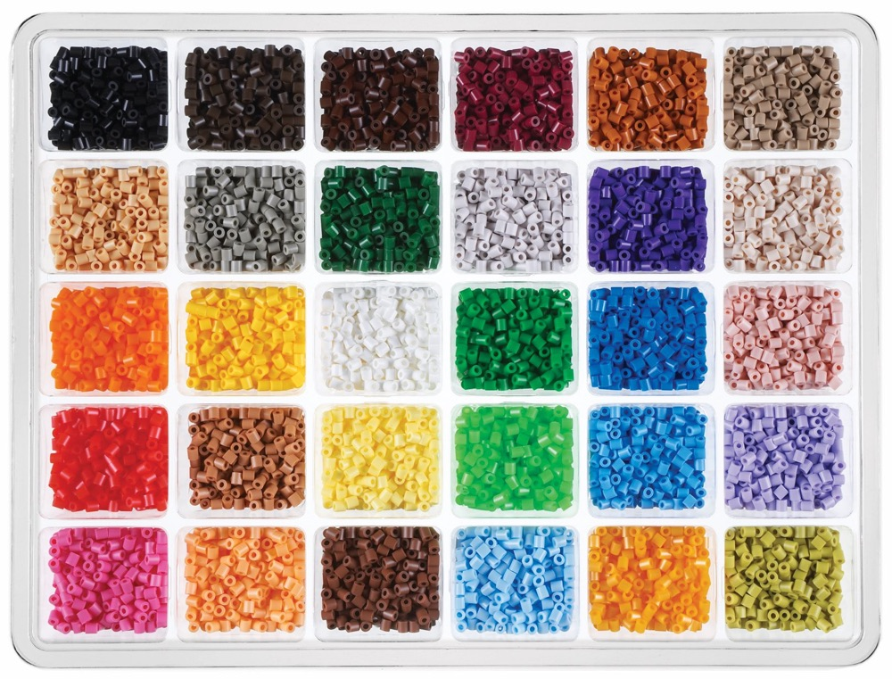 Tray with 30 different bead colors