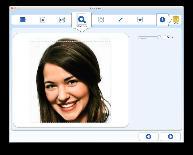 Skärmdump från PhotoPearls programvara