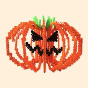 Halloween Jack-o'-lantern pumpkin made with beads